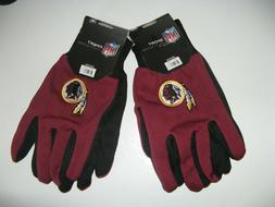 TWO  PAIR OF WASHINGTON REDSKINS SPORT UTILITY GLOVES FROM F