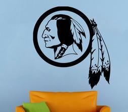 Washington Redskins Wall Decal NFL Vinyl Sticker Football Lo