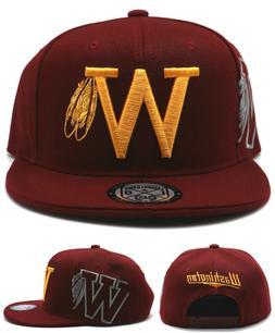 Washington New Leader FeatherW Redskins Color Burgundy Gold