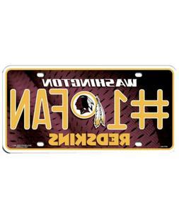 Washington Redskins #1 Fan License Plate  NFL Tag Auto Truck