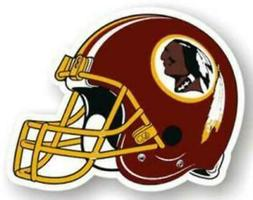 """Washington Redskins 12"""" Helmet Car Magnet"""