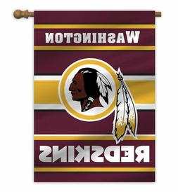 "Washington Redskins 28"" x 40"" 2 Sided House/Porch Flag"