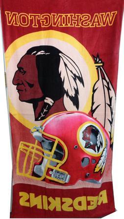 Washington Redskins 28x58 NFL Beach Bath Velour Towel