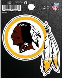 "Washington Redskins 3"" Flat Vinyl Die Cut Decal Bumper Stick"