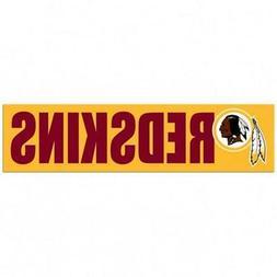 Washington Redskins 3 x 12 Inch Bumper Sticker  NFL Strip Tr