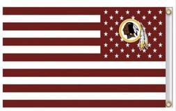 washington redskins 3x5 ft american flag football