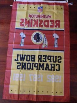 Washington Redskins 3x5 Super Bowl Champions Flag. Free ship