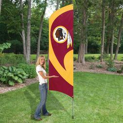 WASHINGTON REDSKINS 8.5 FOOT TALL TEAM FLAG 11.5' POLE SIGN