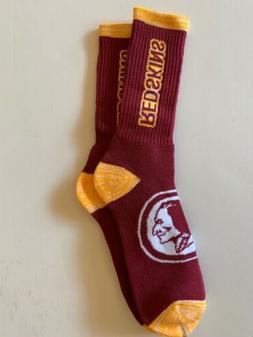 Washington Redskins Adult Socks- 1 Pair- Large - Brand New F