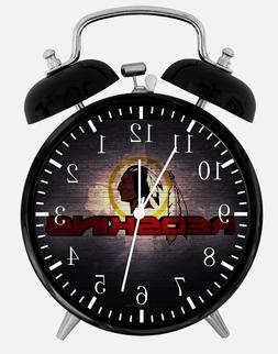 "Washington Redskins Alarm Desk Clock 3.75"" Room Office Decor"
