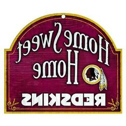 Washington Redskins Arched Home Sweet Home Wood Sign  Plaque