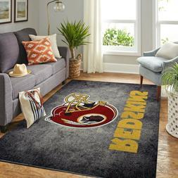 Washington Redskins Area Rug, Football Floor Decor, NFL Wash