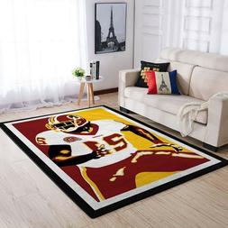 washington redskins area rugs living room carpet