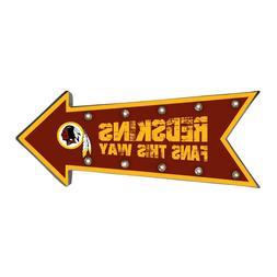Washington Redskins Arrow Marquee Sign - Light Up - Room Bar