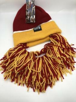 Washington Redskins ASU  Knit Football Beard Ski Face Mask &