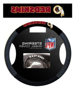 Washington Redskins Black Vinyl Massage Grip Steering Wheel