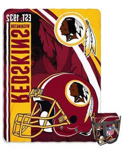 "NFL Washington Redskins Blanket and Tote 60"" x 80"" Oversized"