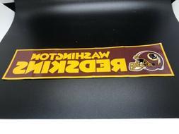 Washington Redskins Bumper Sticker Decal NFL Football