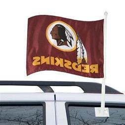 WASHINGTON REDSKINS CAR AUTO FLAG BANNER & POLE 2 SIDED NFL