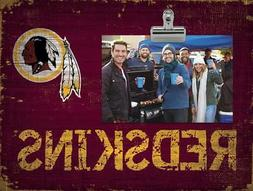 Washington Redskins Clip Picture Frame  NFL Photo Plaque Sig