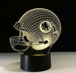 Washington Redskins Collectible Light Lamp Home Decor Gift K