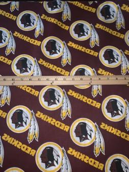 Washington Redskins Cotton Fabric 1/4 Yard Piece