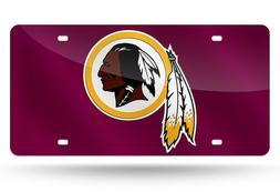 Washington Redskins Custom Mirror License Plate - Auto Tag -