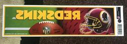 "Washington Redskins Decal Bumper Sticker 3"" x 11"""