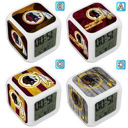 Washington Redskins Digital Alarm Clock Color Changing Decor