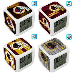 Washington Redskins Sport Alarm Digital Clock LED Light Nigh