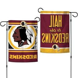 "WASHINGTON REDSKINS DOUBLE SIDED GARDEN FLAG 12""X18"" YARD BA"