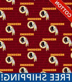 Washington Redskins Emblem NFL Cotton - Style# 14737 -  Free