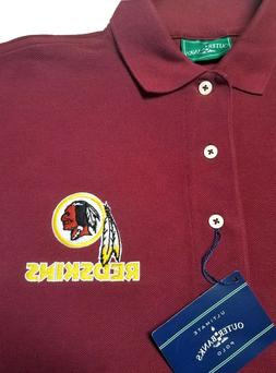 Washington Redskins Embroidered Long Sleeve Mens Polo
