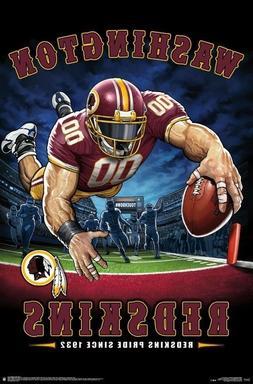 WASHINGTON REDSKINS - END ZONE MASCOT POSTER - 22x34 NFL FOO