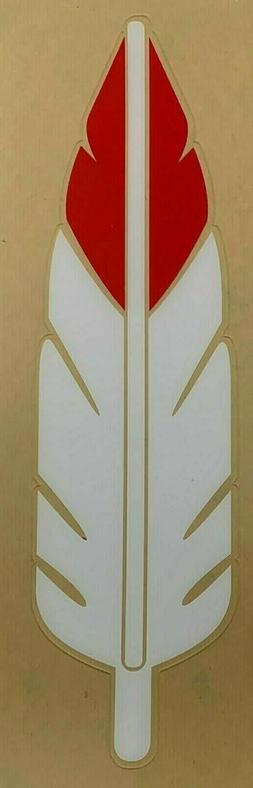 "WASHINGTON REDSKINS ""FEATHER"" MINI HELMET DECAL 1959 - 1964"