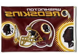 WASHINGTON REDSKINS FLAG 3'X5' NFL HELMET BANNER: FREE SHIPP