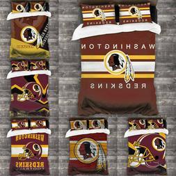 Washington Redskins Quilt Cover Bedding Set 3PCS Duvet Cover
