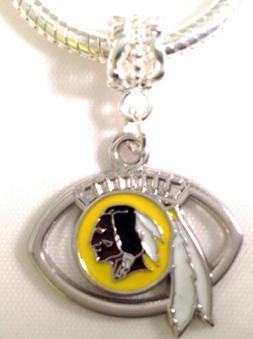 Washington Redskins Football Charm For Bracelet or Necklace