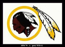 WASHINGTON REDSKINS FOOTBALL NFL TEAM LOGO DESIGN DECAL STIC