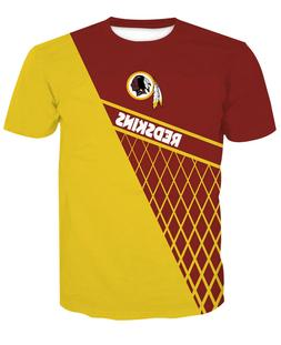 Washington Redskins Football T-Shirt Sports Summer Short Sle