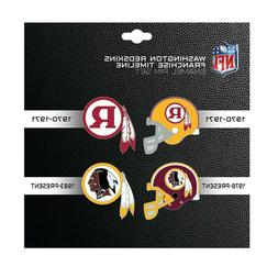Washington Redskins Franchise Timeline Enamel 4-Pin Set
