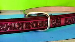 WASHINGTON REDSKINS Genuine Leather Belt & Standard Buckle -