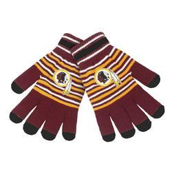 Washington Redskins Gloves Acrylic Stripe Knit Sports Logo W