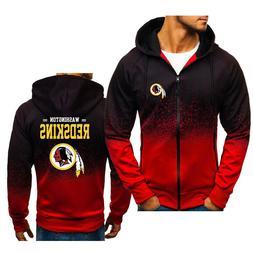 Washington Redskins Gradient Hoodie Splash-Ink Hooded Sweats