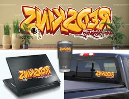 Washington Redskins Graffiti Vinyl Vehicle Car Laptop Yeti S