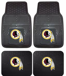 Washington Redskins Heavy Duty Floor Mats 2 & 4 pc Sets for