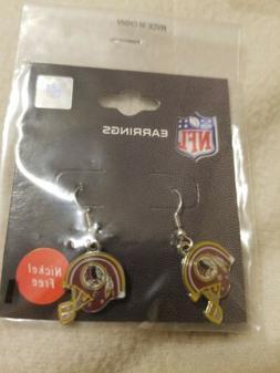 Washington Redskins Helmet Logo Dangle Style Earrings