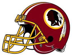WASHINGTON REDSKINS HELMET Vinyl Decal / Sticker ** 5 Sizes