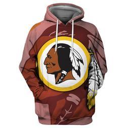 Washington Redskins Hoodies Sweatshirts Men's Casual Pullove