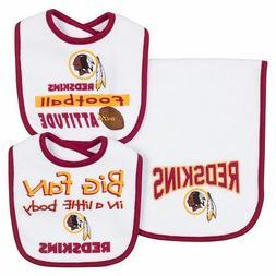Washington Redskins NFL Infant Bibs & Burp Cloth 3-Piece Tea